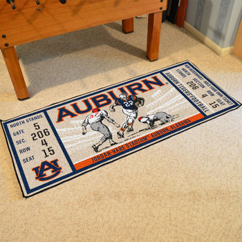 "30"" x 72"" Auburn University Ticket Rectangle Runner Mat"