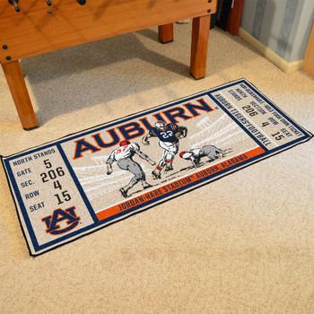 "30"" x 72"" Auburn University Ticket Rectangle Runner Mat"