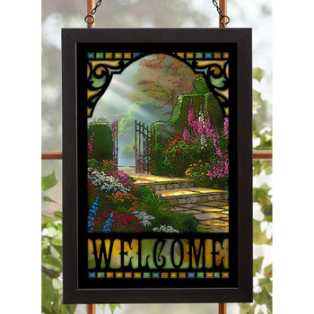 Garden of Grace Stained Glass Wall Art