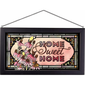 Home Sweet Home Stained Glass Wall Art