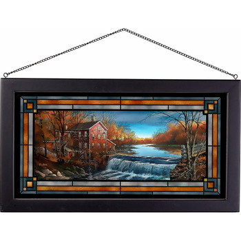 Autumn Afternoon Stained Glass Wall Art