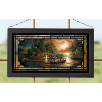 Evening Rendezvous Stained Glass Wall Art