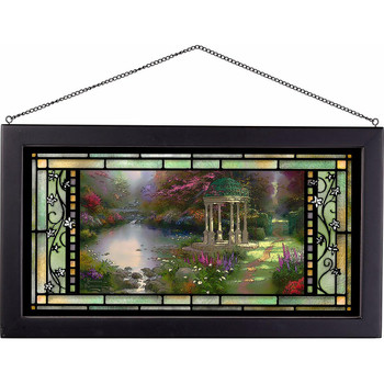 The Garden of Prayer Stained Glass Wall Art
