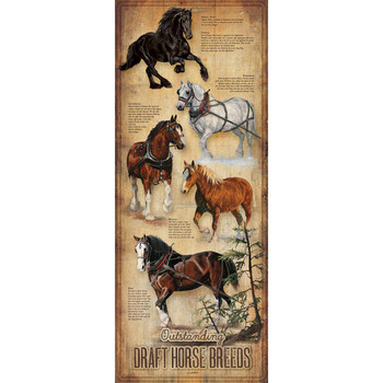 Outstanding Draft Horse Breeds ID Chart Wood Sign