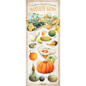 Harvest Gems Squash ID Chart Wood Sign