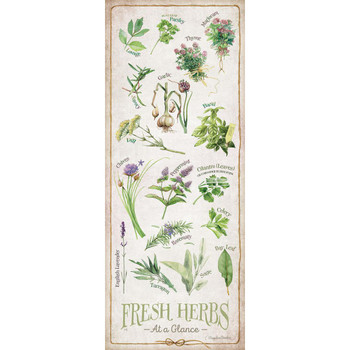 Fresh Herbs at a Glance ID Chart Wood Sign