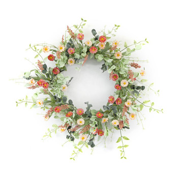 "24"" Mini Daisy Artificial Wreath"