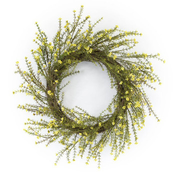 "18"" Mini Floral Artificial Wreath"