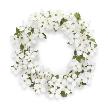 "24.5"" Dogwood Silk Wreath"