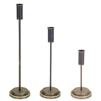 Candlestick Metal Taper Candle Holders, Set of 6