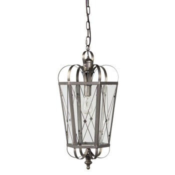 "27"" ""X"" Design Hanging Iron Pendant Light"