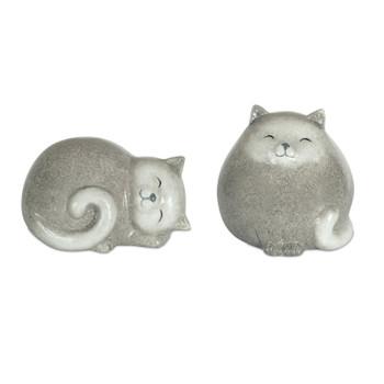 Fat Cats Terra Cotta Sculptures, Set of 4