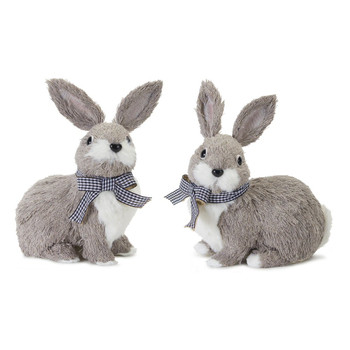 "7.5"" Adorable Rabbits Polyester and Foam Sculptures, Set of 4"