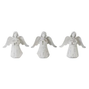 "6.25"" Peaceful Angels Resin Sculptures, Set of 6"
