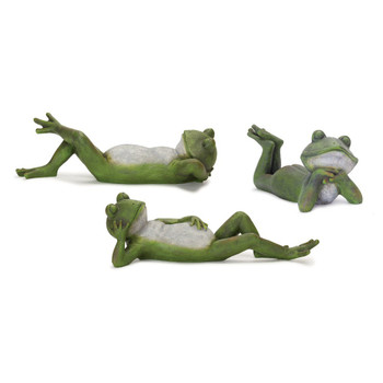 Whimsical Frog Statues, Set of 3