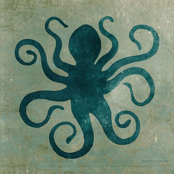 Octopus Vintage Style Wooden Sign