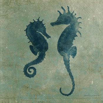 Seahorses Vintage Style Wooden Sign