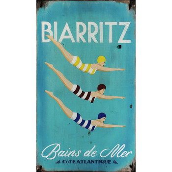 Custom Three Diving Girls Vintage Style Wooden Sign