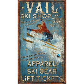 Custom Vail Ski Shop Vintage Style Wooden Sign