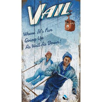 Custom Vail Colorado Ski Lift Vintage Style Wooden Sign