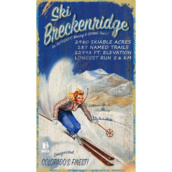 Custom Ski Breckenridge Colorado's Finest Vintage Style Wooden Sign