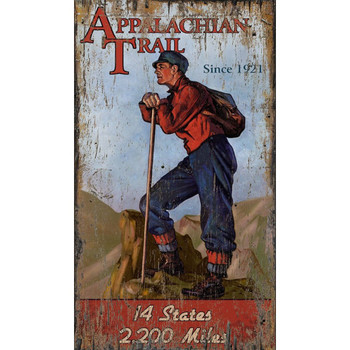 Custom Appalachian Trail Hiker Vintage Style Wooden Sign