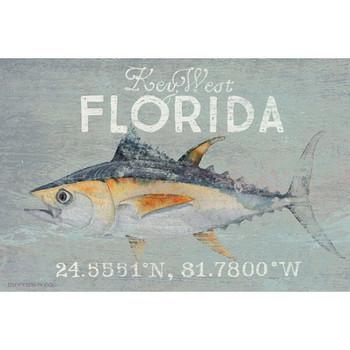 Custom Key West Florida Tuna Latitude Vintage Style Metal Sign
