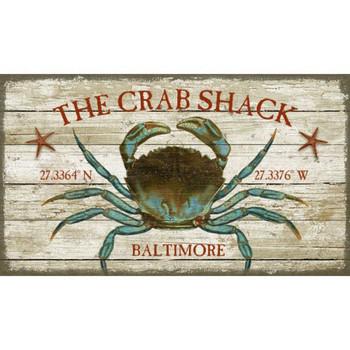 Custom Crab Shack Baltimore Latitude Vintage Style Metal Sign