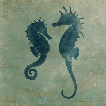 Seahorses Vintage Style Metal Sign