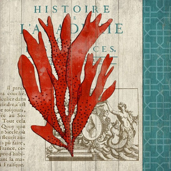 Red Coral III Vintage Style Metal Sign