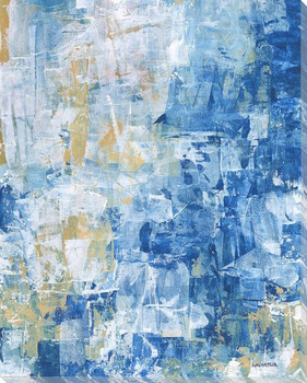 Cascading Blue I Wrapped Canvas Giclee Art Print Wall Art