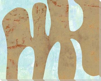 Amorphous Shape Tan Wrapped Canvas Giclee Art Print Wall Art