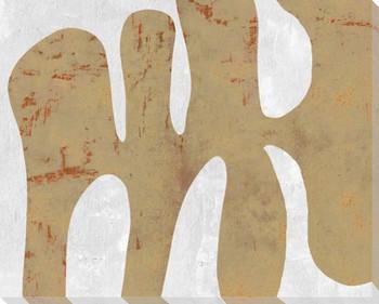 Amorphous Shape Tan B Wrapped Canvas Giclee Art Print Wall Art