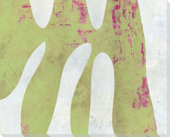 Amorphous Shape Green Wrapped Canvas Giclee Art Print Wall Art