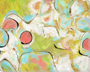 Thinking Abstractly II Wrapped Canvas Giclee Art Print Wall Art