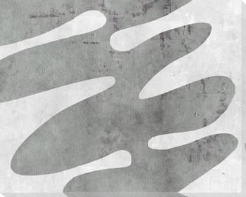 Amorphous Shape Gray B Wrapped Canvas Giclee Art Print Wall Art