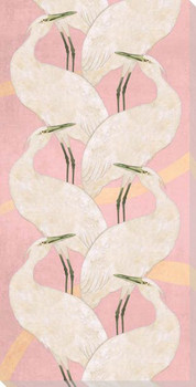 Crane Bird Dance Tango Wrapped Canvas Giclee Art Print Wall Art