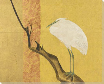 Alabaster Crane Birds 1 Wrapped Canvas Giclee Art Print Wall Art