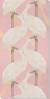 Crane Bird Dance Two Step Wrapped Canvas Giclee Art Print Wall Art