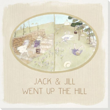 Children Rhymes Jack and Jill Wrapped Canvas Giclee Art Print Wall Art