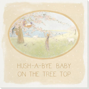 Children Rhymes Hush a Bye Baby Wrapped Canvas Giclee Art Print Wall Art