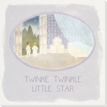 Children Rhymes Twinkle Twinkle Wrapped Canvas Giclee Art Print Wall Art