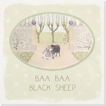 Children Rhymes Baa Baa Black Sheep Wrapped Canvas Giclee Art Print Wall Art