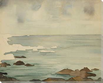 Placid Sea Wrapped Canvas Giclee Art Print Wall Art