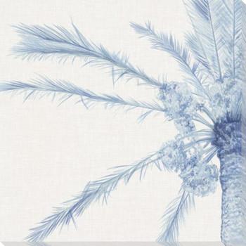 Chambray Palms I Wrapped Canvas Giclee Art Print Wall Art