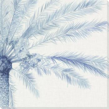 Chambray Palms II Wrapped Canvas Giclee Art Print Wall Art
