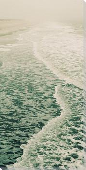 Beautiful Summer Seas Wrapped Canvas Giclee Art Print Wall Art