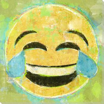 Tears of Joy Emoji Wrapped Canvas Giclee Art Print Wall Art