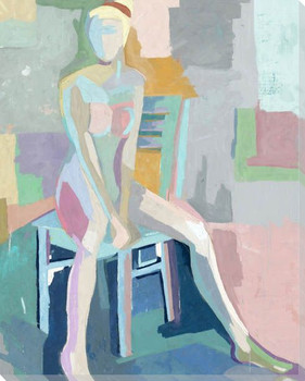 Seated Figures I Wrapped Canvas Giclee Art Print Wall Art