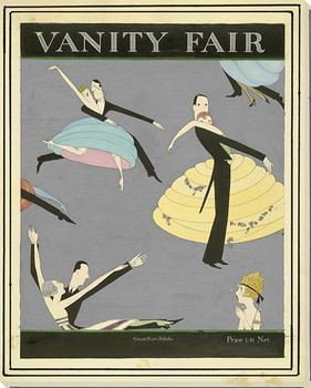 Vanity Fair Dancing Wrapped Canvas Giclee Art Print Wall Art